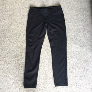 Liverpool Black Stretch Pull-On Leggings EUC